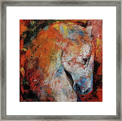 War Horse Framed Print by Michael Creese