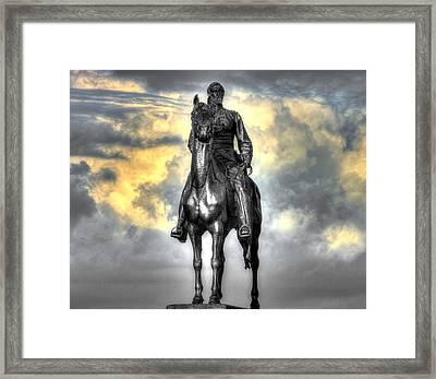 War Horses - Clouds Of War - Maj Gen George Gordon Meade Commander Army Of The Potomac Gettysburg Framed Print