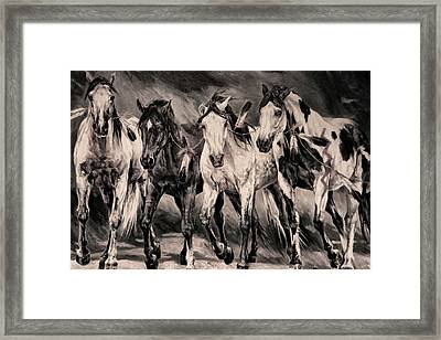 War Horses Framed Print by Dennis Baswell