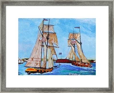 War Of 1812 In S.carolina Framed Print by Bill Hubbard