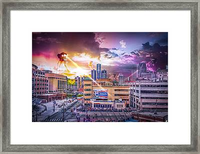 Framed Print featuring the photograph War Of The Worlds Detroit By Nicholas Grunas by Nicholas  Grunas
