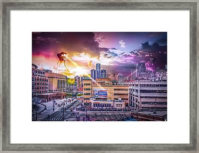War Of The Worlds Detroit By Nicholas Grunas Framed Print