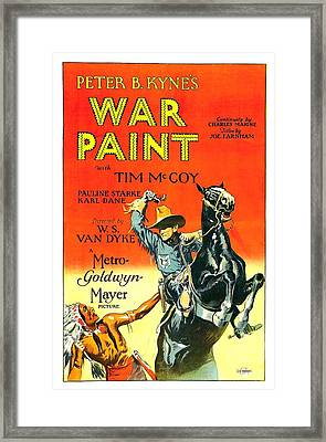 War Paint 1926 Framed Print by Mountain Dreams