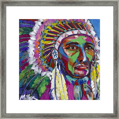 War Paint Framed Print by Tracy Miller