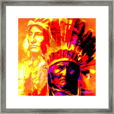 War Path The Warrior Chiefs Final Stand 20151228 Square Framed Print