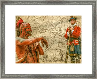 War Paths French And Indian War Framed Print