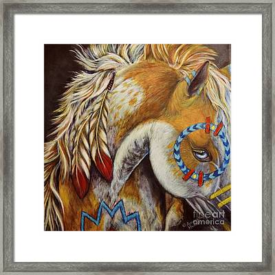 War Pony #4 Framed Print by Amanda Hukill