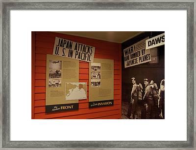Editorial War Poster Framed Print by Robert Braley