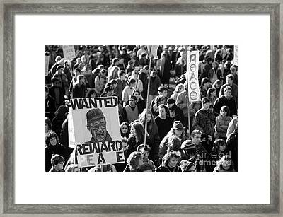 War Protesters  Framed Print by Jim Corwin