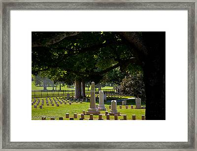 War Spirits Framed Print by Julie Penney