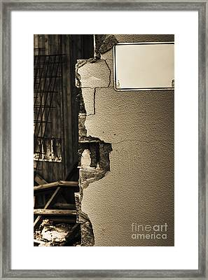 War Torn Wall Framed Print