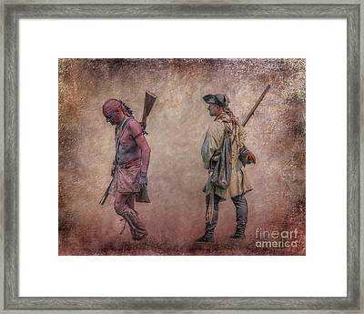 War Trail French And Indian War Framed Print by Randy Steele