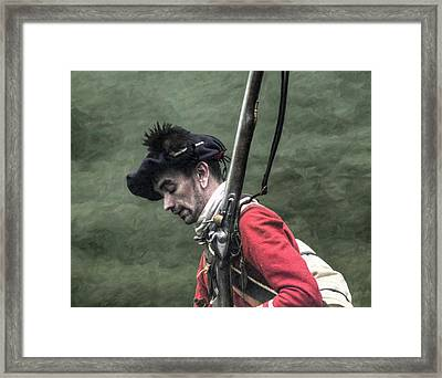 War Weary French And Indian War Portrait Framed Print by Randy Steele