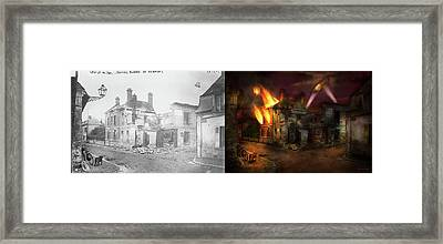 War - Wwi -  Not Fit For Man Or Beast 1910 - Side By Side Framed Print by Mike Savad