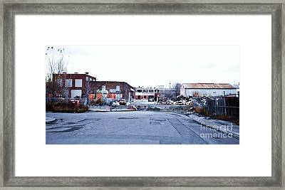 War Zone 3 Montreal Framed Print by Reb Frost
