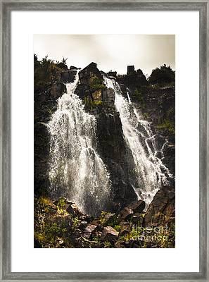 Waratah Water Falls In Tasmania Australia Framed Print by Jorgo Photography - Wall Art Gallery