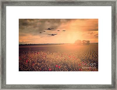 Warbird Fly Past Framed Print by J Biggadike