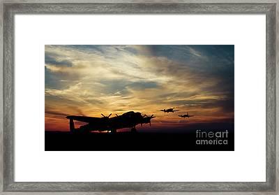 Warbird Silhouettes Framed Print