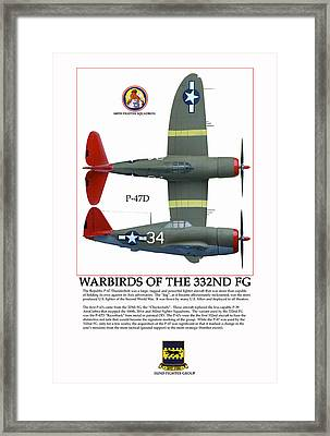 Warbirds Of The 332nd Fg Framed Print by Jerry Taliaferro