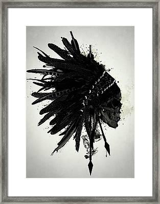 Warbonnet Skull Framed Print