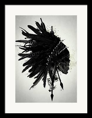 Indian Ink Digital Art Framed Prints