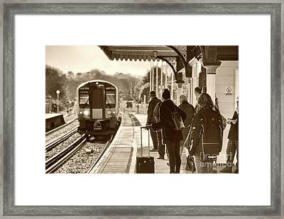 Wareham Commute  Framed Print by Rob Hawkins