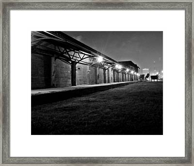 Warehouse At Night Framed Print