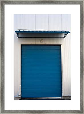 Warehouse Door Framed Print by Boyan Dimitrov