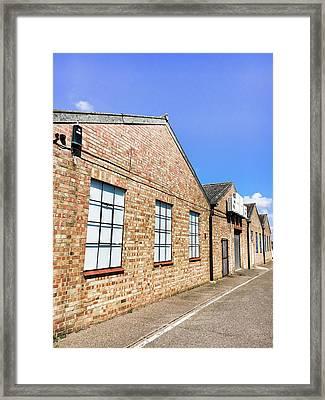 Warehouse Exterior Framed Print by Tom Gowanlock