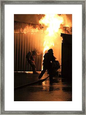 Warehouse Fire Framed Print by Cary Ulrich