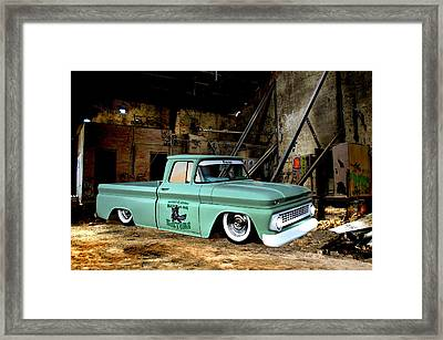 Warehouse Pickup Framed Print by Steven Agius