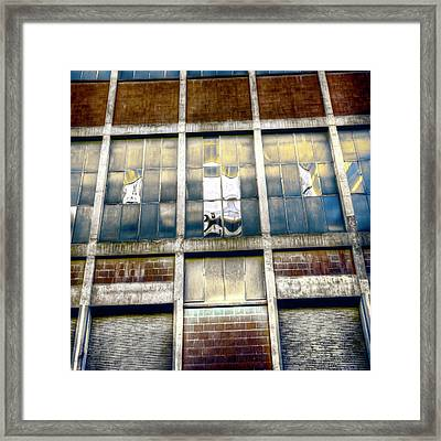 Framed Print featuring the photograph Warehouse Wall by Wayne Sherriff