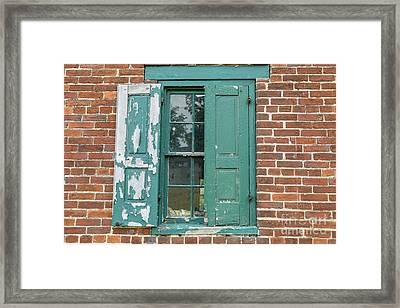 Warehouse Window With Shutter Framed Print