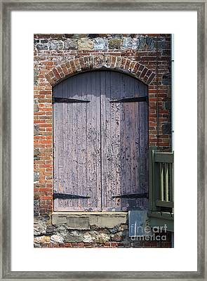 Warehouse Wooden Door Framed Print