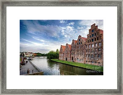 Warehouses Of Old Town Lubeck Framed Print