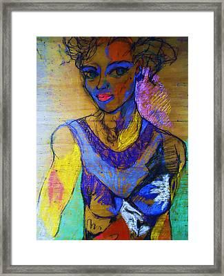 Warhol Simone Framed Print