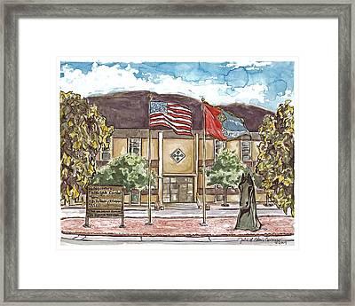 Warhorse Headquarters Framed Print