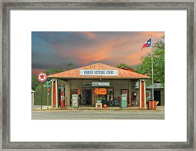 Waring General Store Framed Print by Robert Anschutz