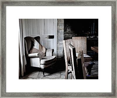Warm But Cluttered Dinning Area Framed Print