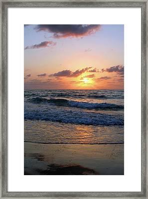 Warm Atlantic Sunrise Framed Print by Brook Burling