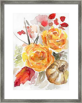 Warm Autumn Framed Print by Arleana Holtzmann