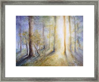 Warm Breath Of Spring Framed Print by Olga Lazareva