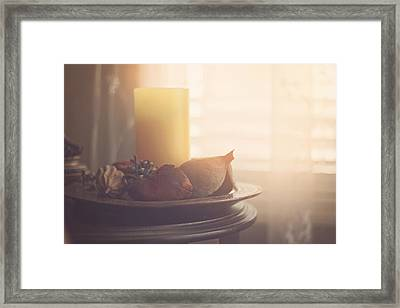 Warm By The Windo Framed Print