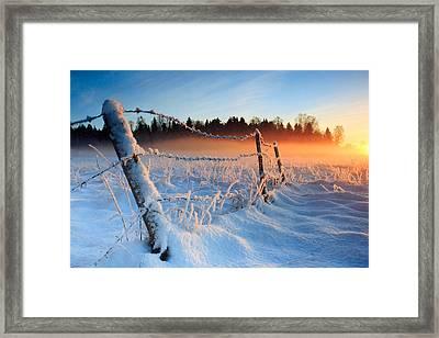 Warm Cold Winter Sunset Framed Print