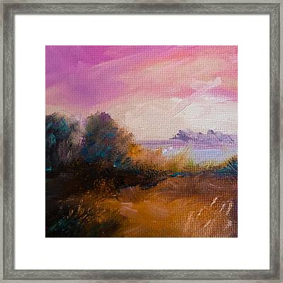 Warm Colorful Landscape Framed Print