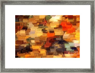 Warm Colors Abstract Framed Print by Carol Groenen