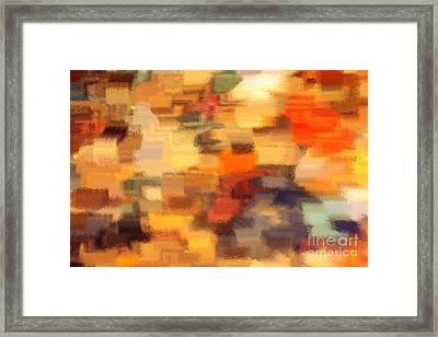Warm Colors Under Glass - Abstract Art Framed Print by Carol Groenen