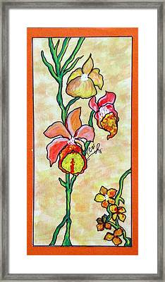 Warm Flower Study Framed Print by Tammera Malicki-Wong