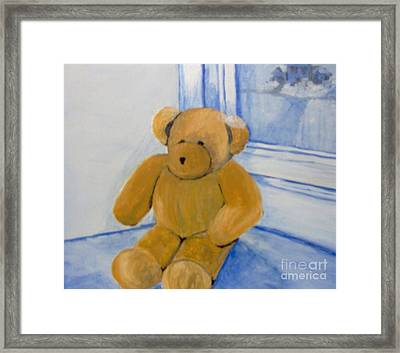 Framed Print featuring the painting Warm Friend On A Cold Day by Saundra Johnson