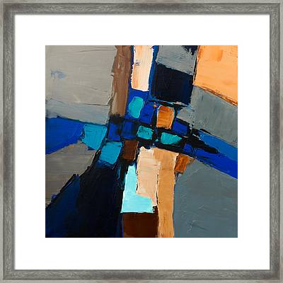 Framed Print featuring the painting Warm Grey  by Elise Palmigiani